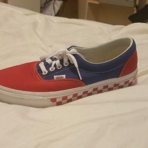 VANS blue/red Size 8.5